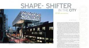 Shape-Shifter In the City: OCAD Aims to Lead