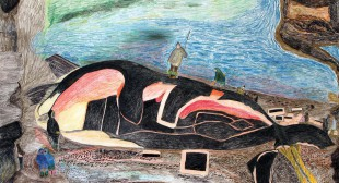 Inuit artist Ohotaq Mikkigak Draws on Landscapes of Ice and Memory