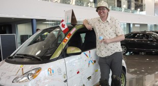 Jason McLean Revs Up Canada's First Smart Art Car