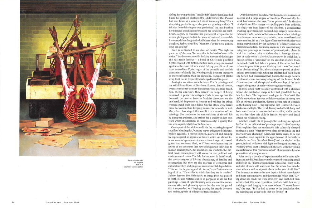 Fifth spread for the radiant way from the summer 1994 issue of