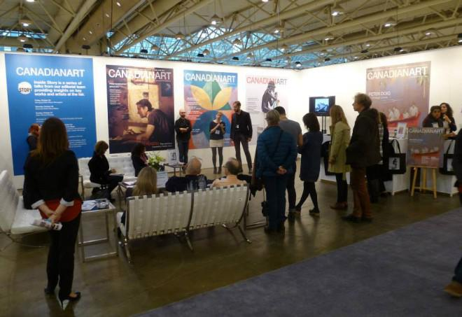 The Canadian Art booth at Art Toronto 2013. Photo: Barb Solowan.