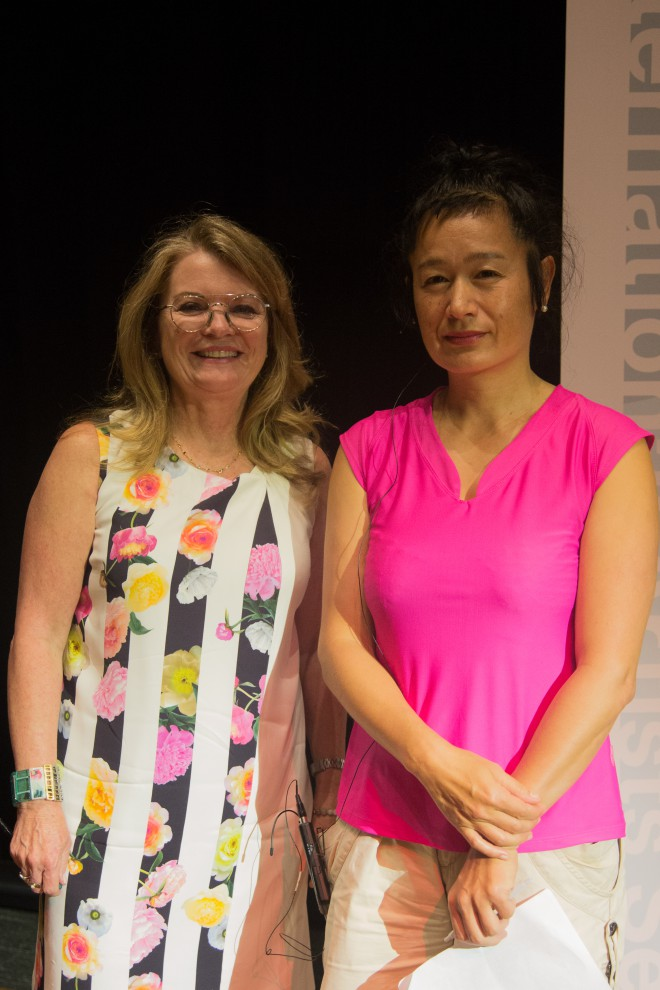 Canadian Art Foundation's Jill Birch with Hito Steyerl. Photo: Patrick Biller.