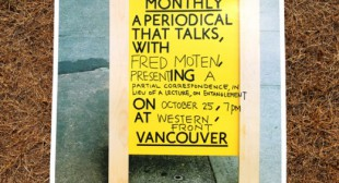 Fred Moten: Artist Talk