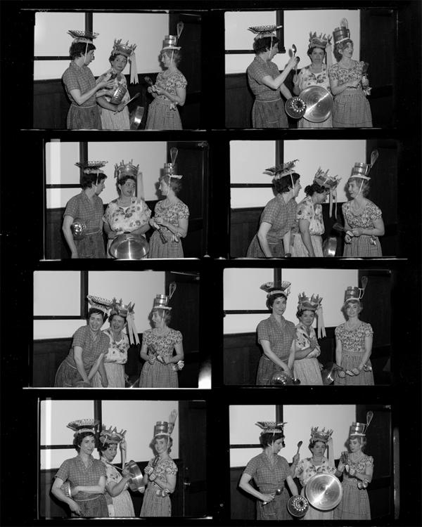 CSawyer Natalie Brettschneider with friends Lori Weidenhammer and Soressa Gardner, 1951 copy copy