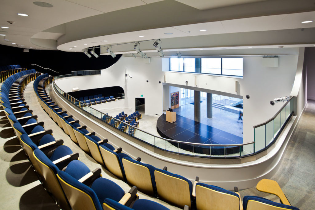 A View Of The Upper Level Reliance Theatre At New Emily Carr University Art And Design