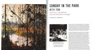 Sunday in the Park with Tom: (and Peter. And Michael. And why Rosedale is enough)