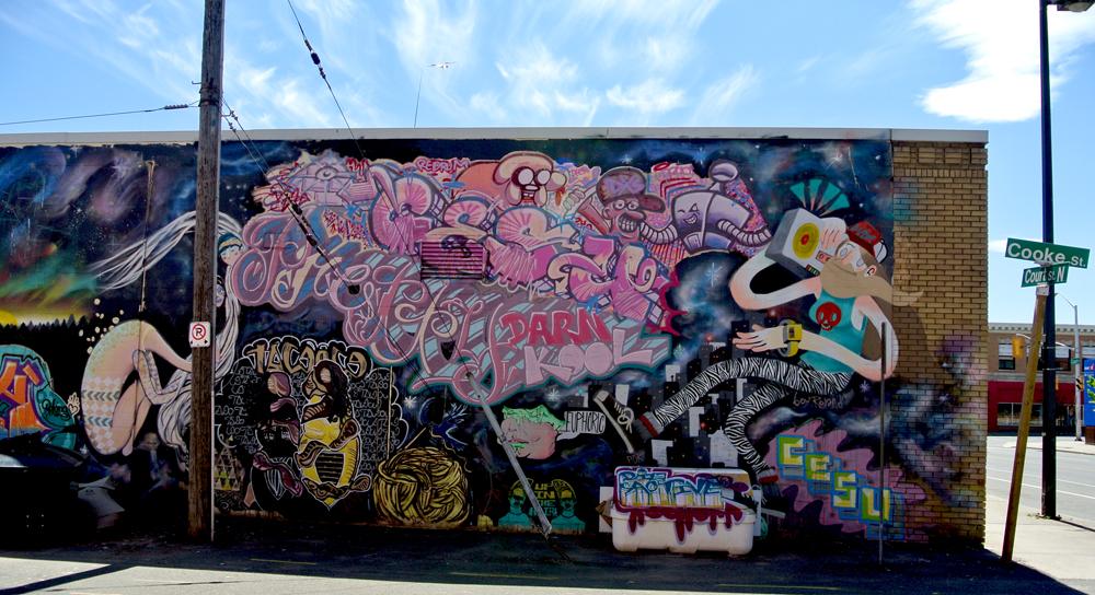 Daniel joyce s cross canada journal northern ontario for Exterior mural painting