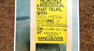 Fred Moten: Artist Talk