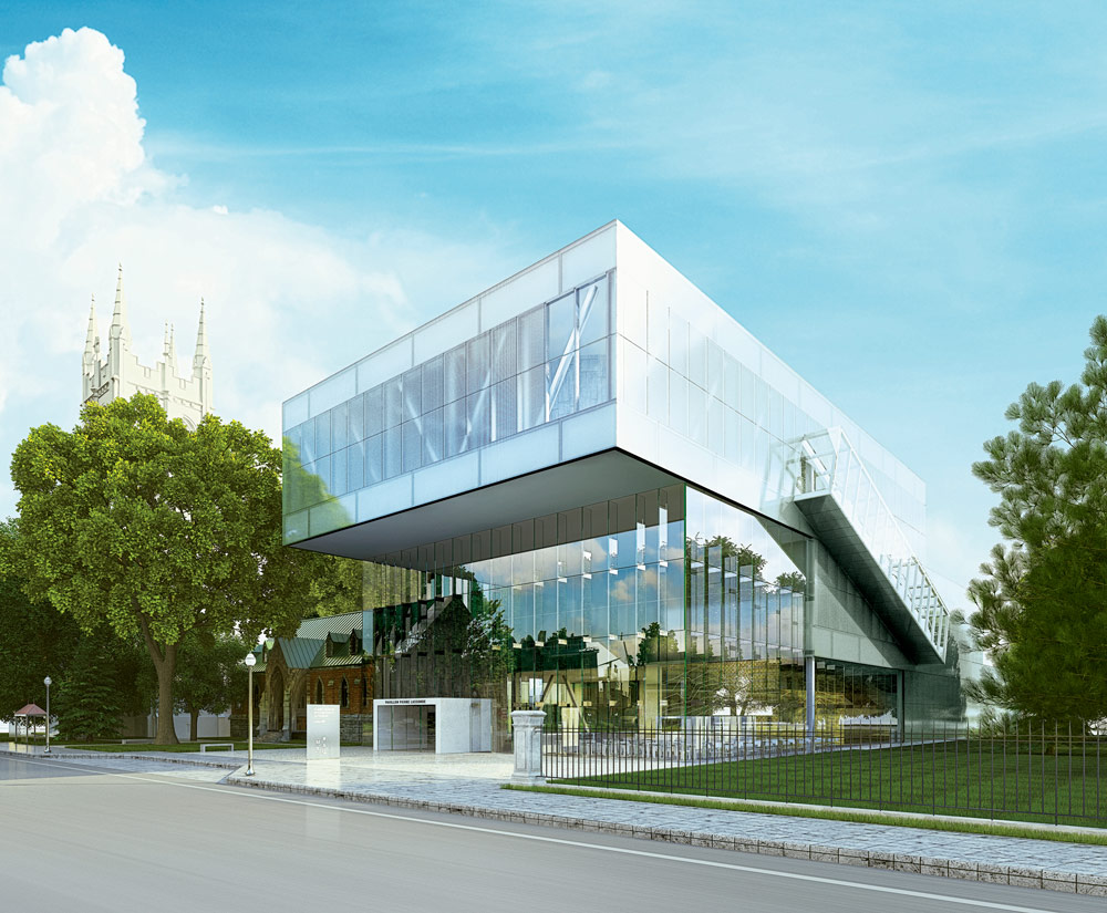 Bold new quebec museum addition ramps up for opening for Architecture quebec