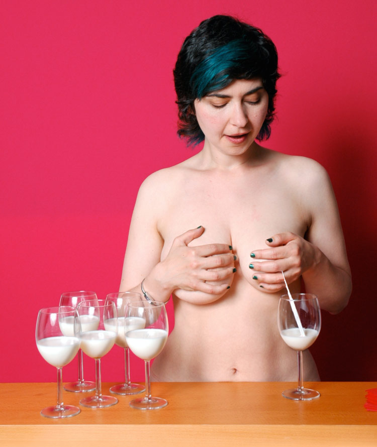 """Jess Dobkin's <em>The Lactation Station Breast Milk Bar</em> (2006) is one of the works in """"New Maternalisms Redux"""" opening May 12 at the the University of Alberta's FAB Gallery in Edmonton. Photo: David Hawe."""