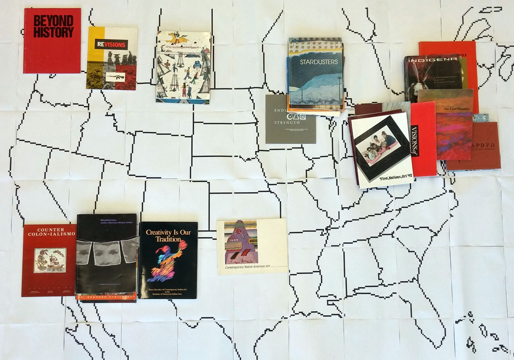 Catalogues mapped geographically