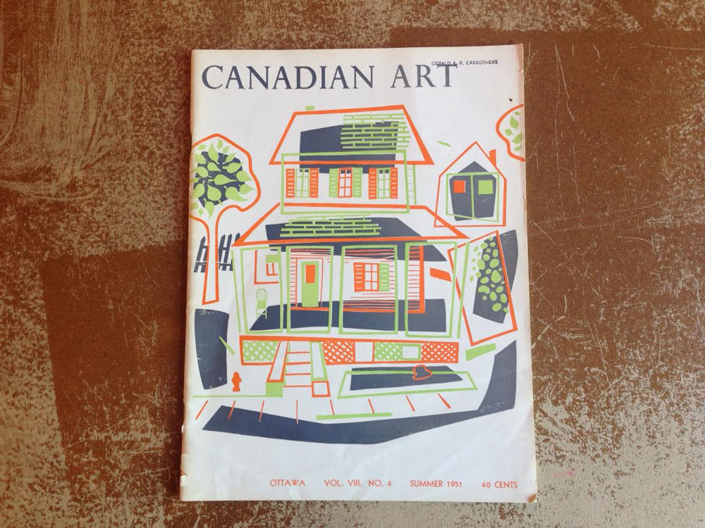 Michael Snow cover 1951 Summer Canadian Art