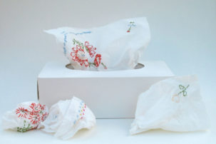Meet the Artist Who Embroiders Kleenex and Cheerios, Not Cloth