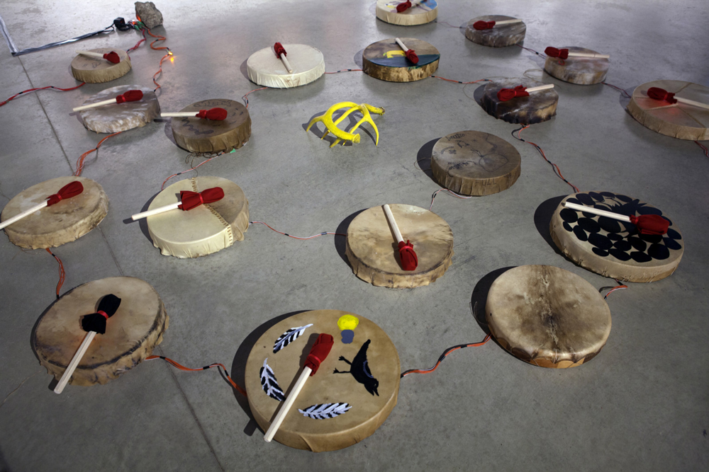 """Peter Morin, <em>Experiments in Time Travel</em>, 2015. Installation view as a part of """"Since Then,"""" 2016."""