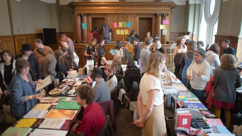 Saturday at the Vancouver Art Book Fair. Photo: Bryce Hunnersen of Vandocument via VABF Facebook page.